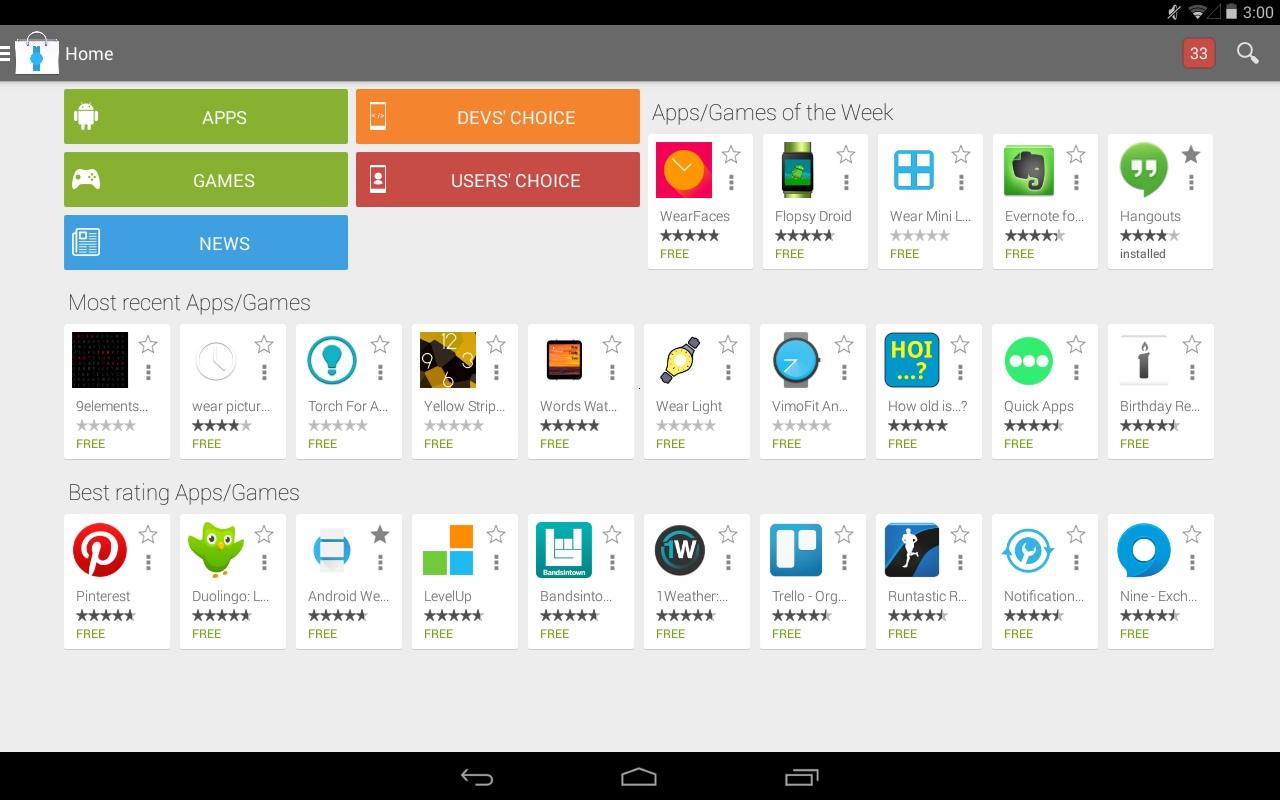 Ecco una vetrina di app per Android Wear: Android Wear Store (foto)