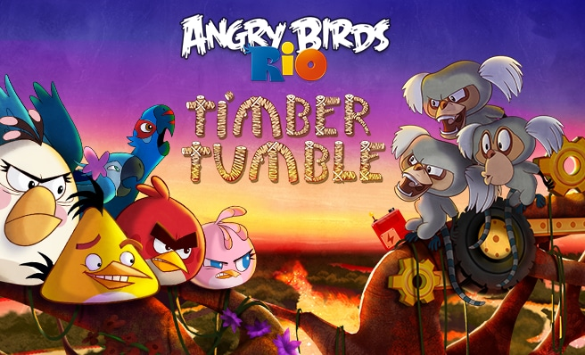 Angry BIRDS Rio Timber Tumble