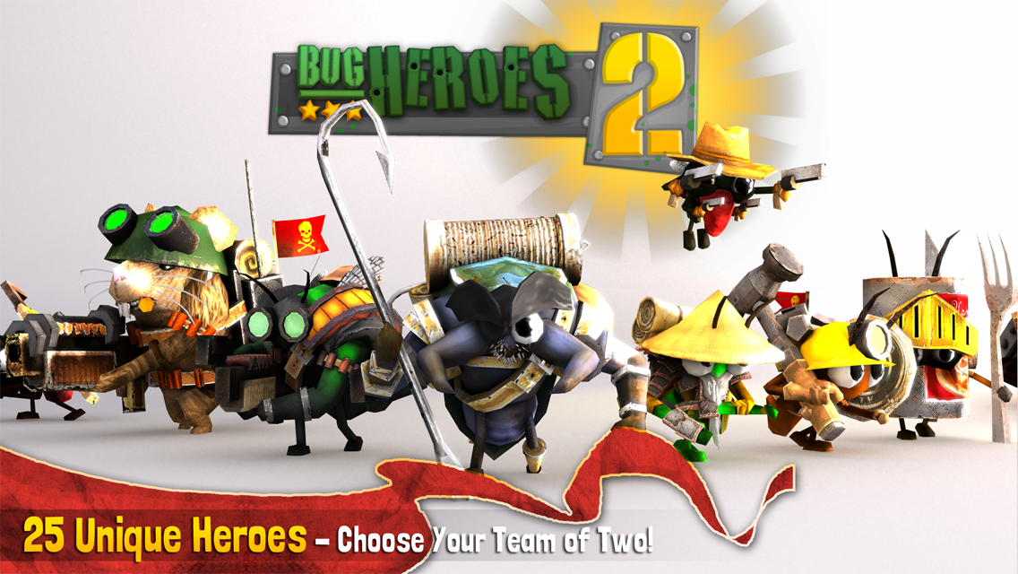 Bug Heroes 2: furiose battaglie tra insetti nel MOBA di Foursaken Media per Android (foto e video)