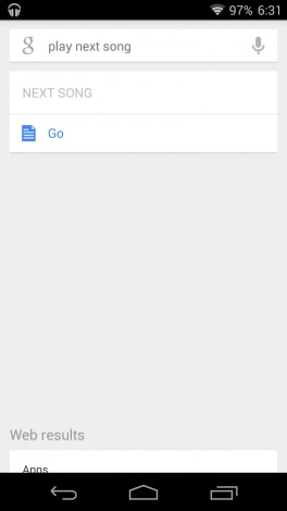 Controlli musical google now