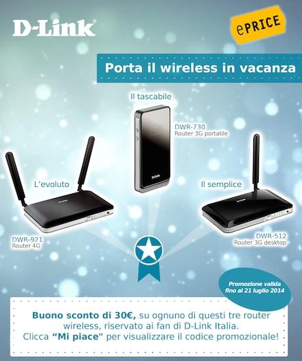 D-Link promozione Estate WiFi
