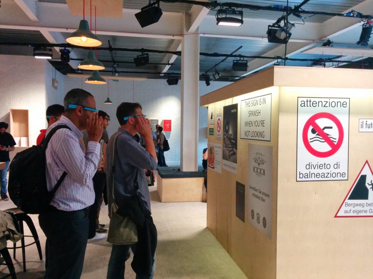 Foto Londra Google Glass 3