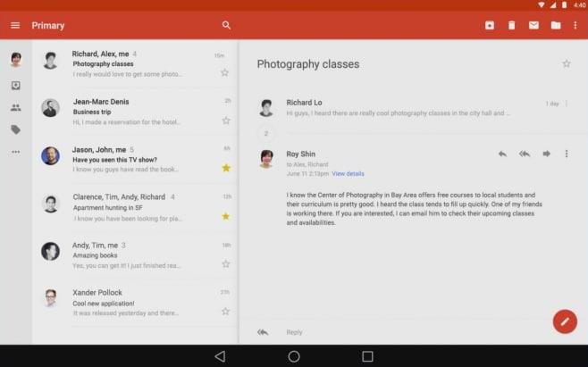 Gmail su tablet
