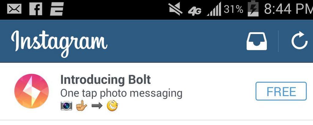 Instagram pubblicizza per sbaglio Bolt, una nuova app in stile TapTalk?