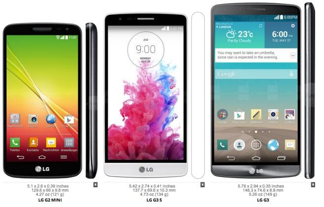 LG G2 G3 S G3