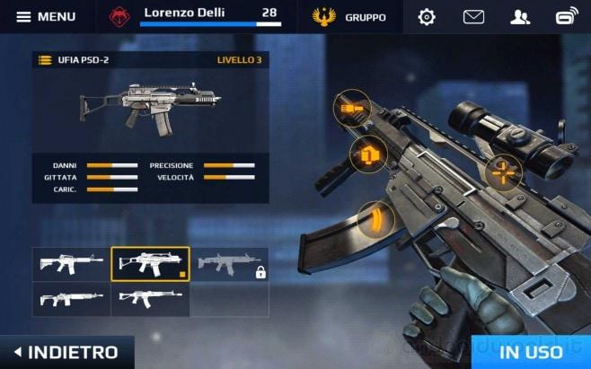 Modern Combat 5 Armi Android