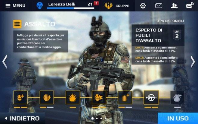 Modern Combat 5 Classe Assalto Android