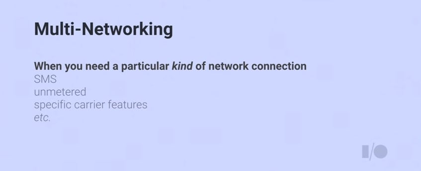 Multi-networking
