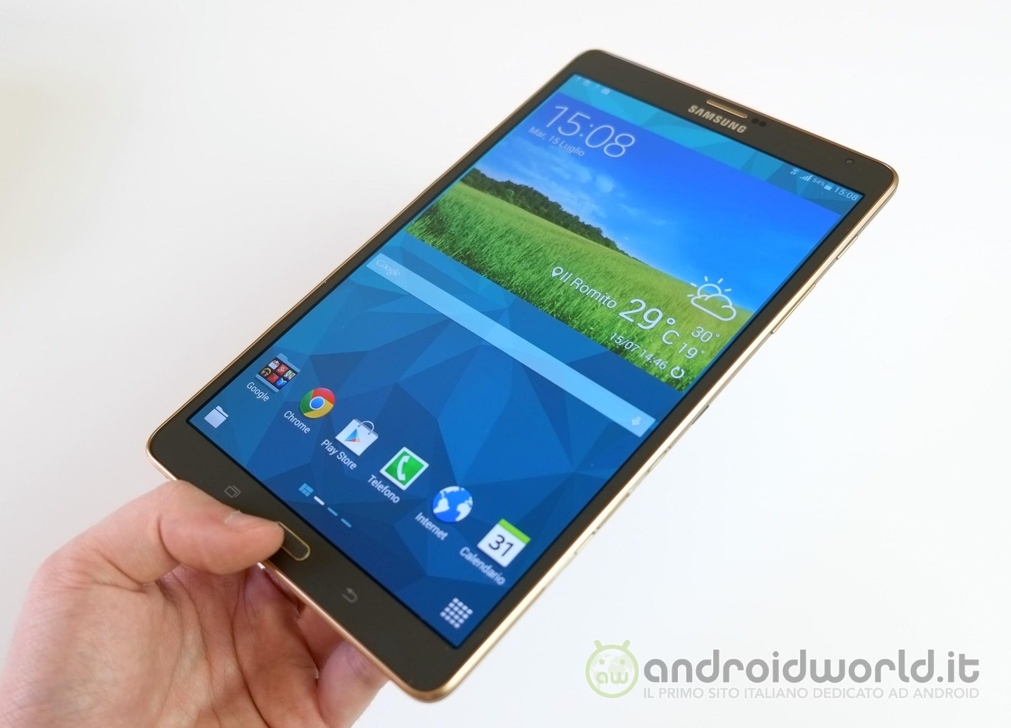 Samsung Galaxy Tab S 8.4 LTE si aggiorna a Marshmallow anche in Italia