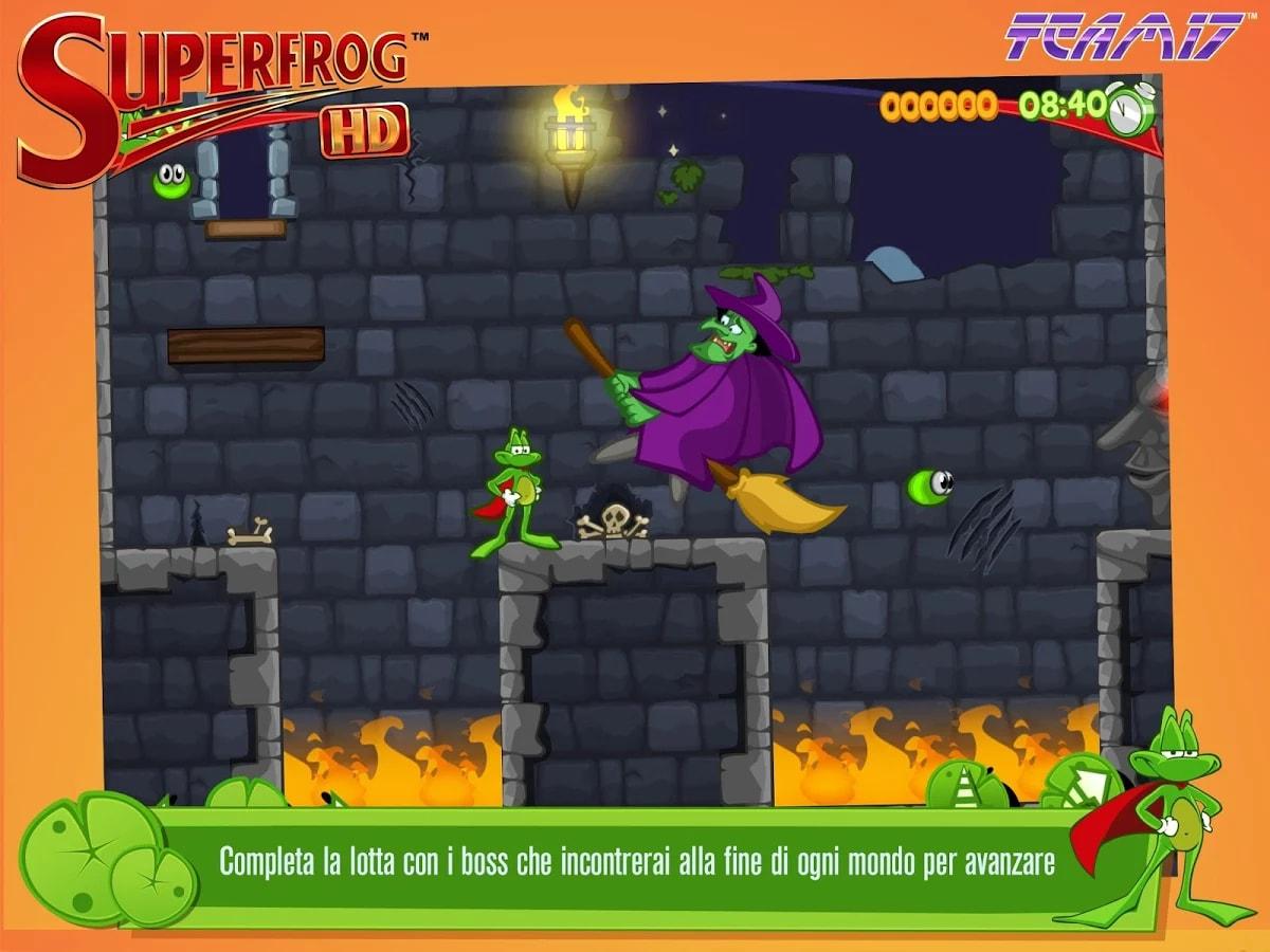 Team17 lancia su Android Superfrog HD, il remake del platform del 1993 (foto e video)