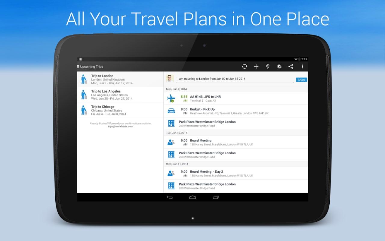 Organizzare al meglio i propri viaggi con WorldMate (foto e video)