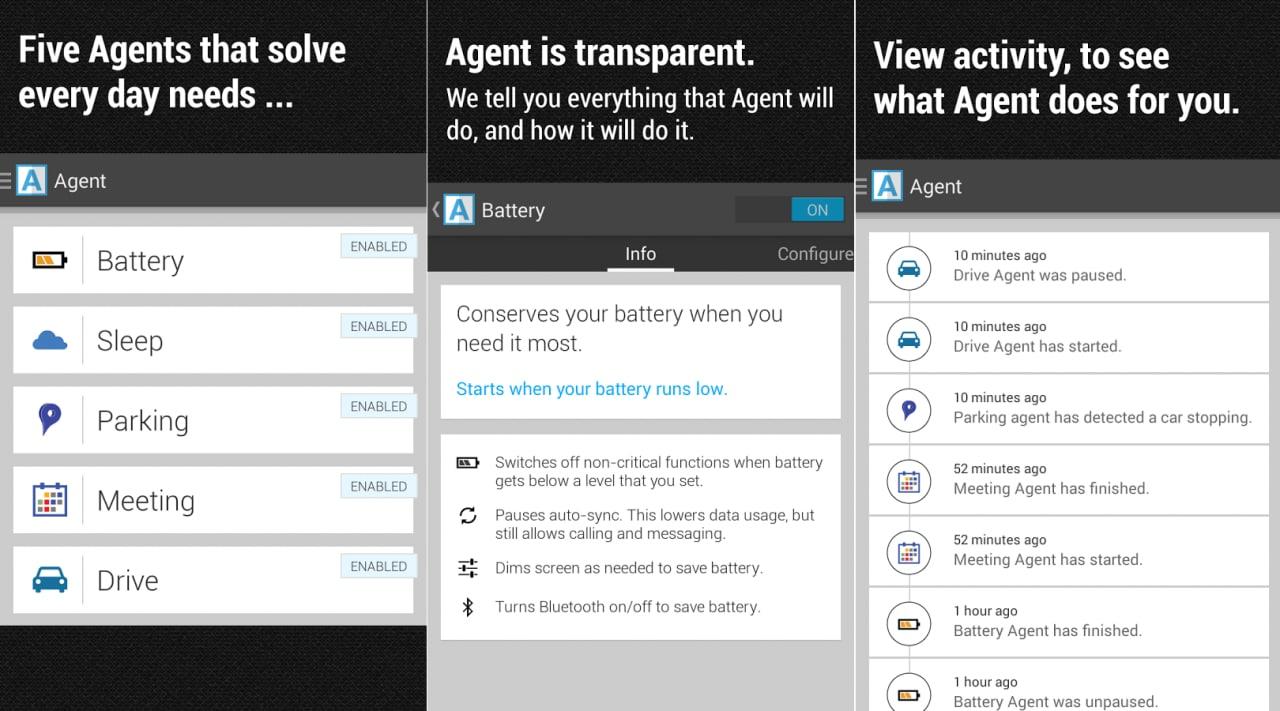 Ottimizzare i comportamenti del vostro smartphone con Agent (foto e video)
