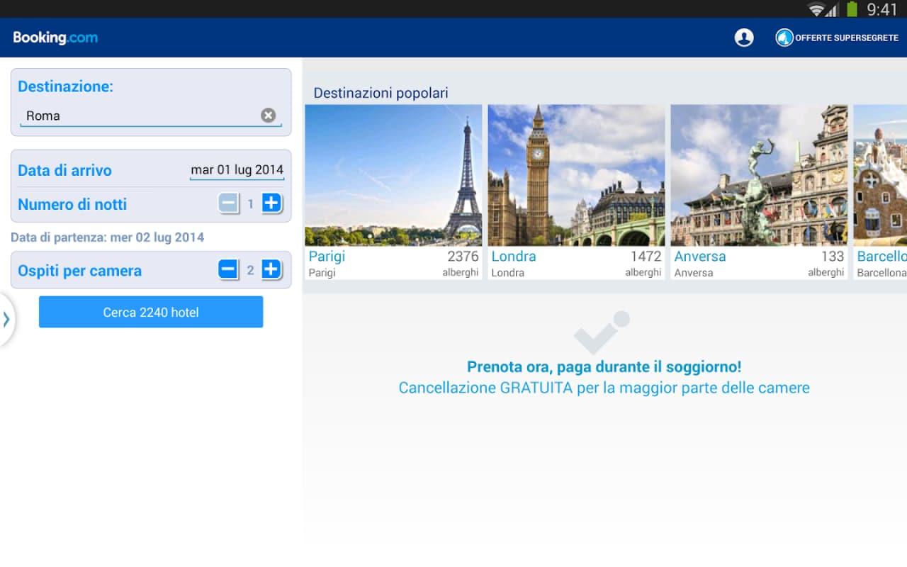 Prenotare l'albergo per l'estate con Booking.com (foto)