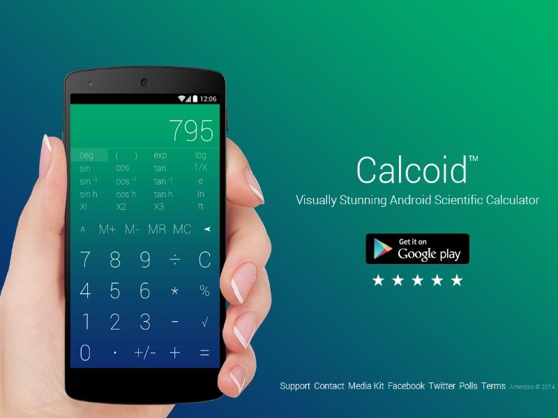 Una calcolatrice scientifica dallo stile minimale con Calcoid (foto)