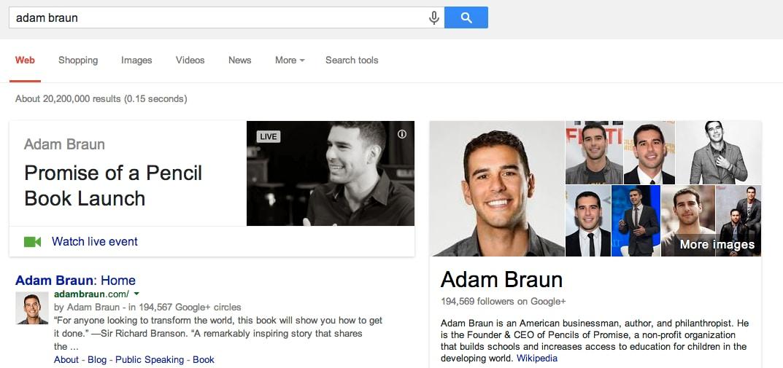 google search card live hangouts