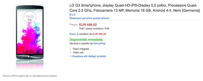 lg g3 amazon import