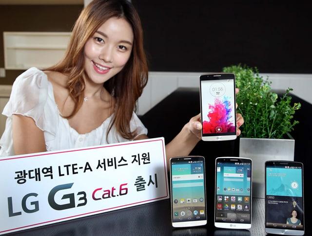 LG G3 Cat.6 ufficiale in Corea, con Snapdragon 805 e supporto alla rete LTE-A