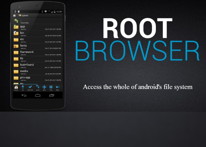 root browser_applicazione_gestione file root