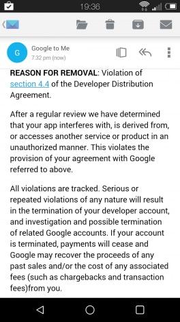 La tastiera di Android L viene rimossa dal Play Store