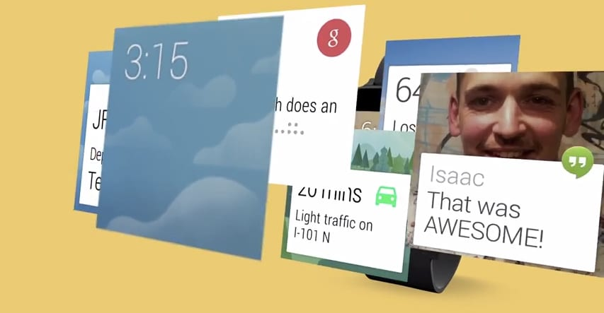 Android Wear card