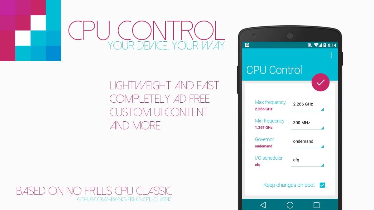CPU Control: pieno controllo sul processore in stile Material Design (foto)