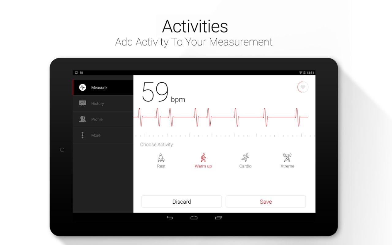 Misurare il battito cardiaco con un'app: Cardiografo (foto)