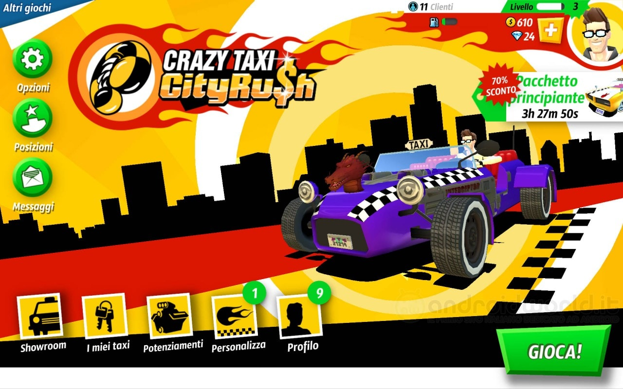 Crazy Taxi City Rush Android Header
