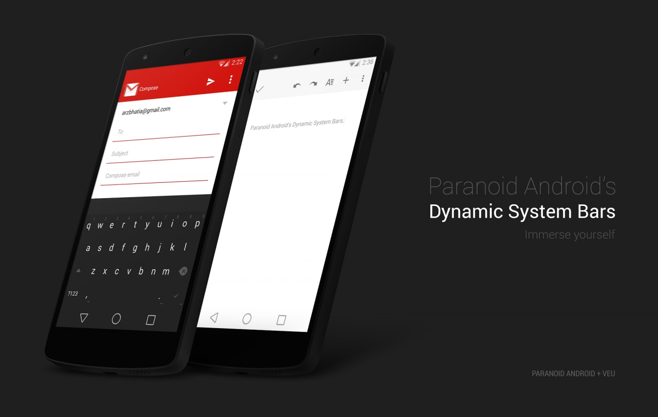 Paranoid Android si aggiorna solo con alcuni fix, in attesa di Dynamic System Bar