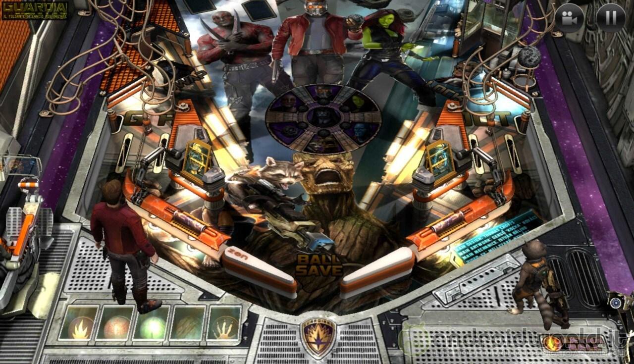 Guardiani della Galassia Marvel Pinball
