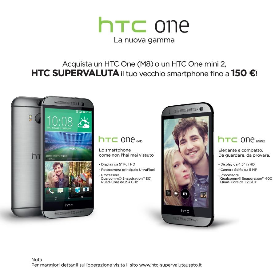 HTC supervaluta l'usato fino a 150€ per passare a One (M8) o a One mini 2