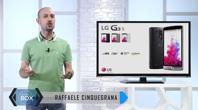 Raffaele Cinquegrana presenta il nuovo LG G3 s (video)