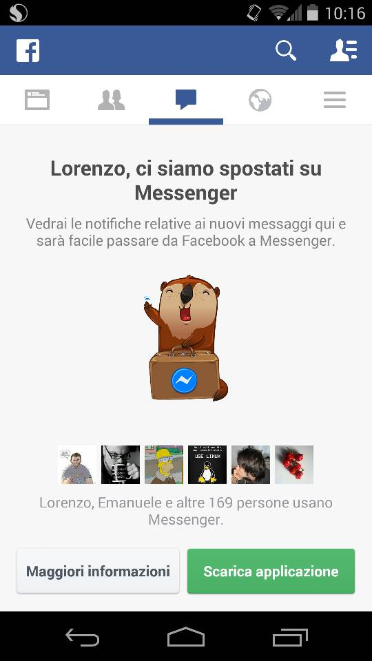 Messenger forever alone