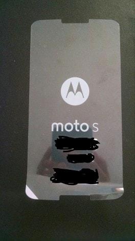Moto S pellicola
