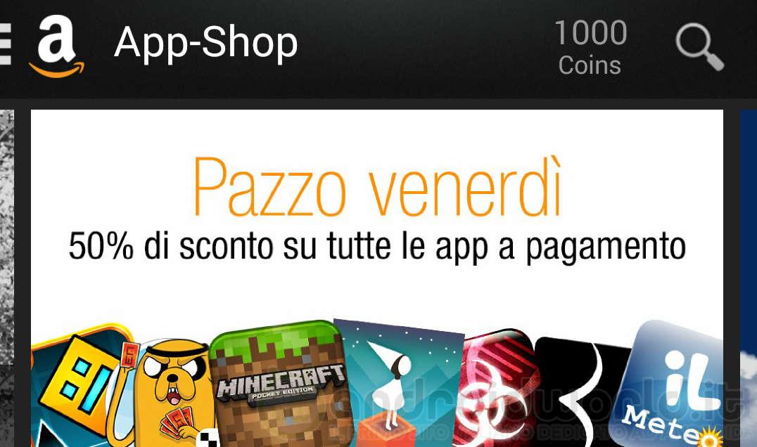 Pazzo Venerdì Amazon App-Shop