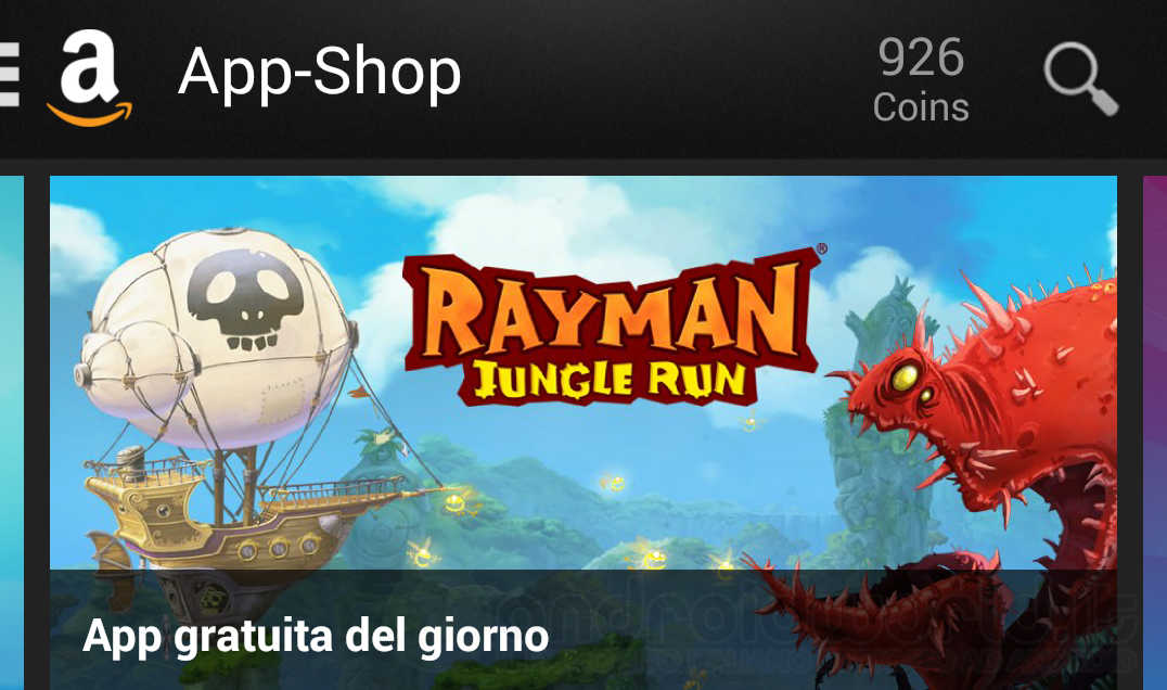 Rayman Jungle Run è l'App gratuita del giorno su Amazon App-Shop (video)