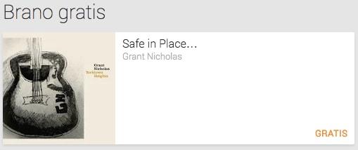 Safe in Place di Grant Nicholas è il singolo gratuito di questa settimana
