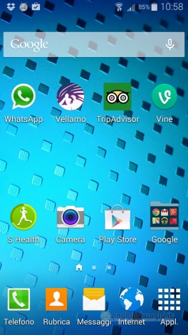 Screenshot Galaxy S5 Home