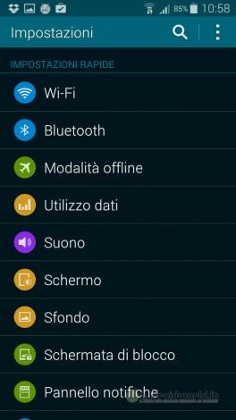 Screenshot Galaxy S5 Impostazioni