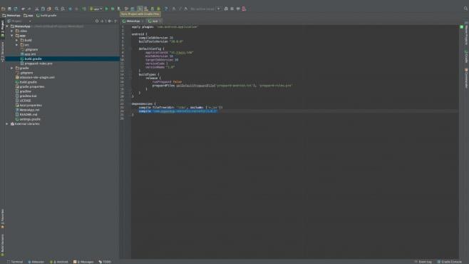 Sync Gradle file