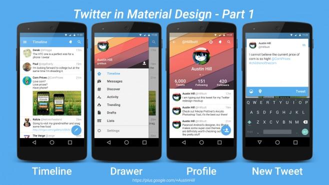 Twitter Material Design 2