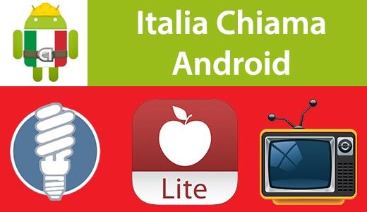 Italia Chiama Android: Lightbulb, iFood Lite, Film in TV