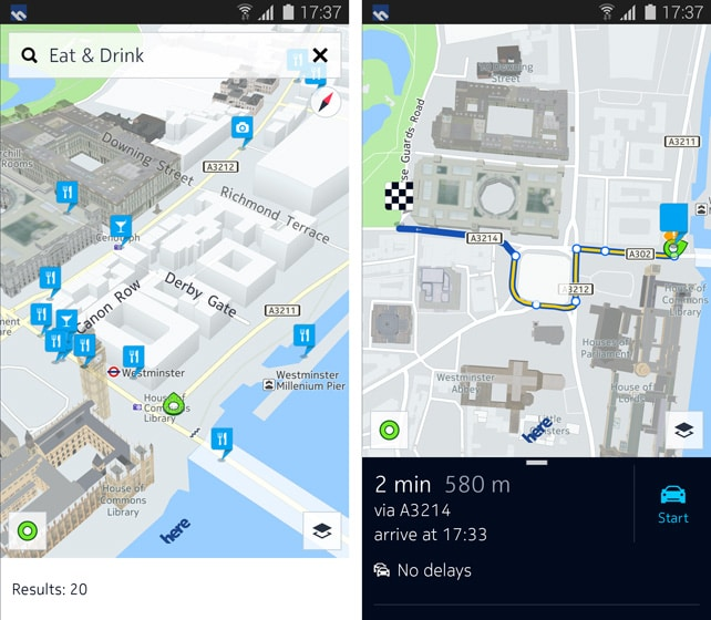 nokia here android search-results