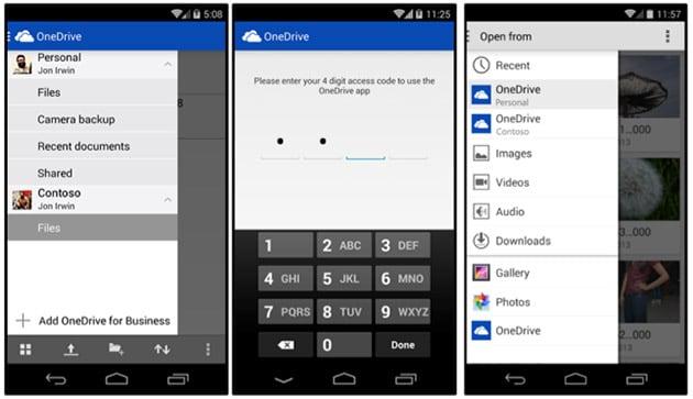 OneDrive per Android aggiunge l'integrazione col ramo Business