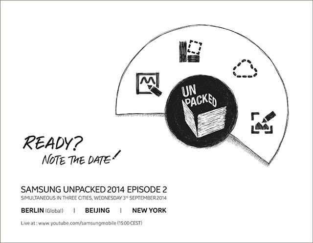 Samsung Galaxy Note 4 sarà presentato il 3 settembre in contemporanea in 3 città