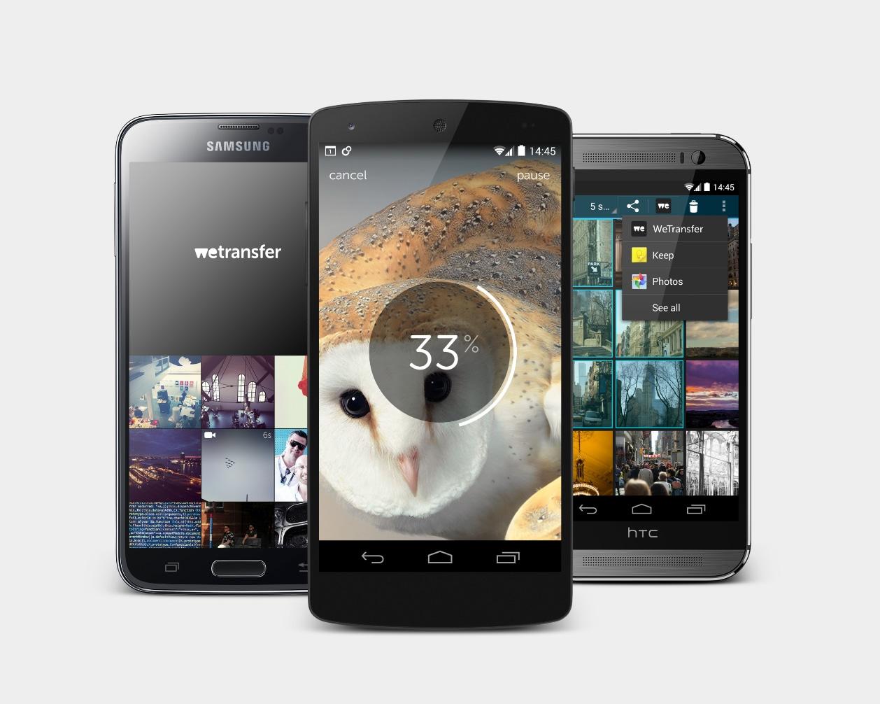 WeTransfer arriva su Android: inviare file fino a 10 GB