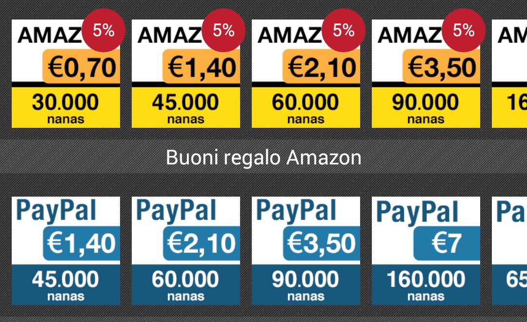 42c8851b7fbeab Come ottenere buoni sconto per Amazon, Paypal, Steam e altri grazie ad  AppNana | AndroidWorld