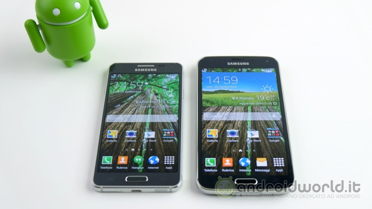 Confronto Galaxy Alpha S5 1