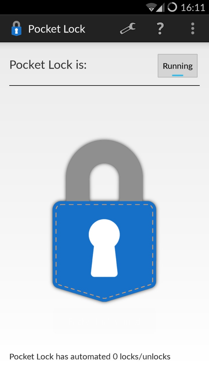 Automatizzare il blocco schermo con Pocket Lock (foto)