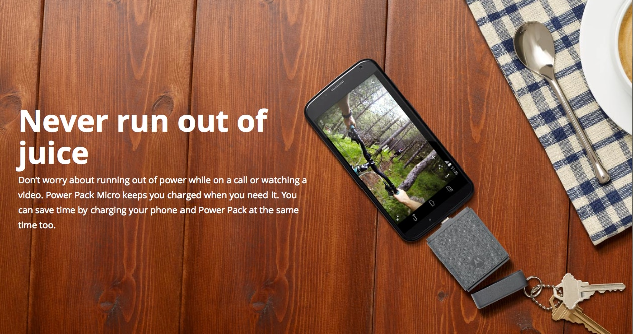 Motorola presenta due accessori per non rimanere mai senza energia (video)