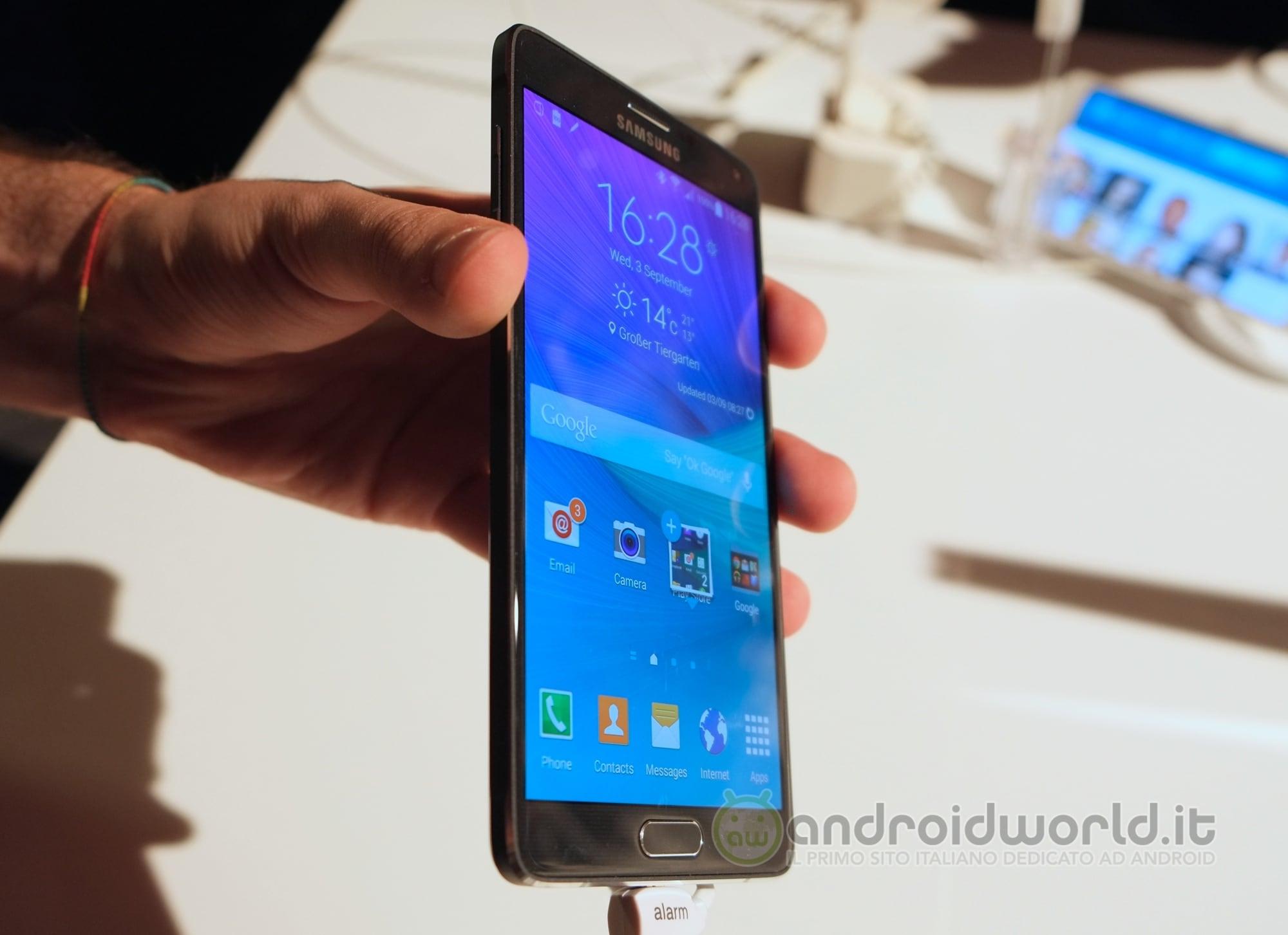 Samsung Galaxy Note 4 La Nostra Anteprima IFA 2014 Foto
